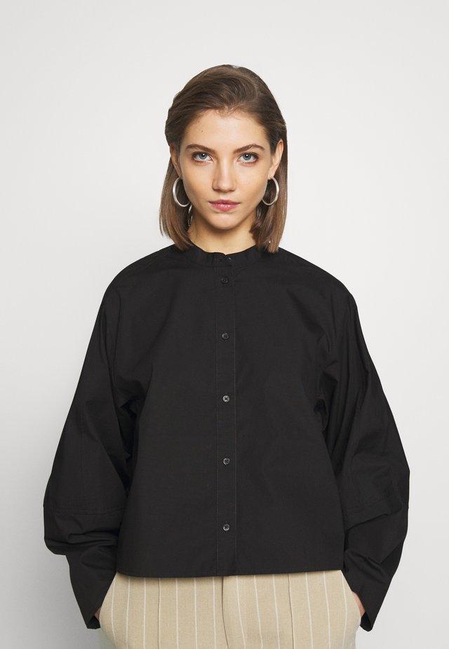 KARA BLOUSE - Button-down blouse - black