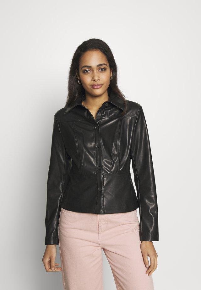 VIVIANA BLOUSE - Button-down blouse - black