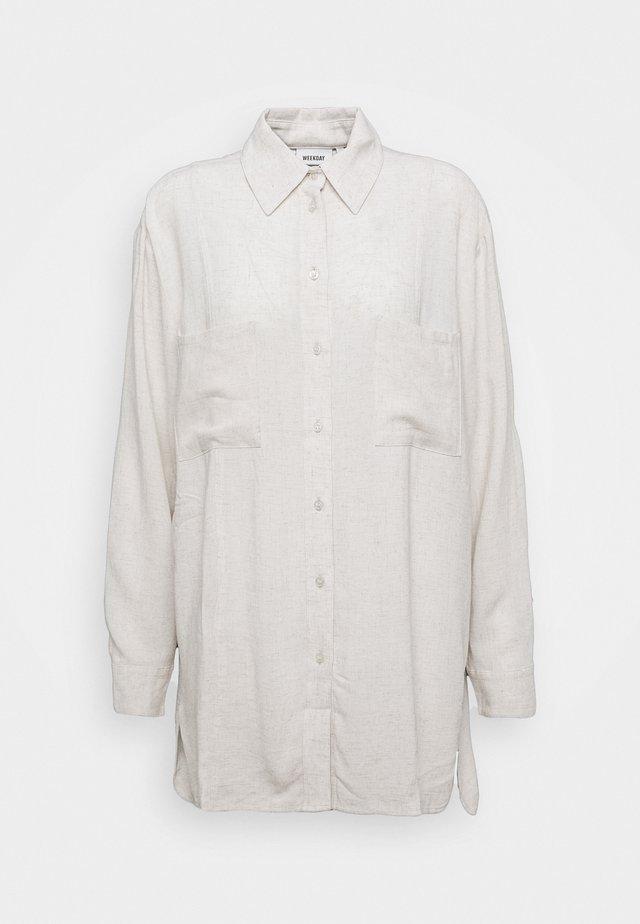 LUNA - Button-down blouse - off white melange