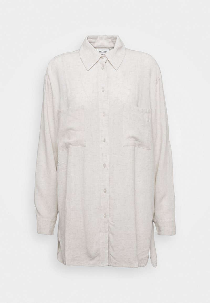 Weekday - LUNA - Camicia - off white melange