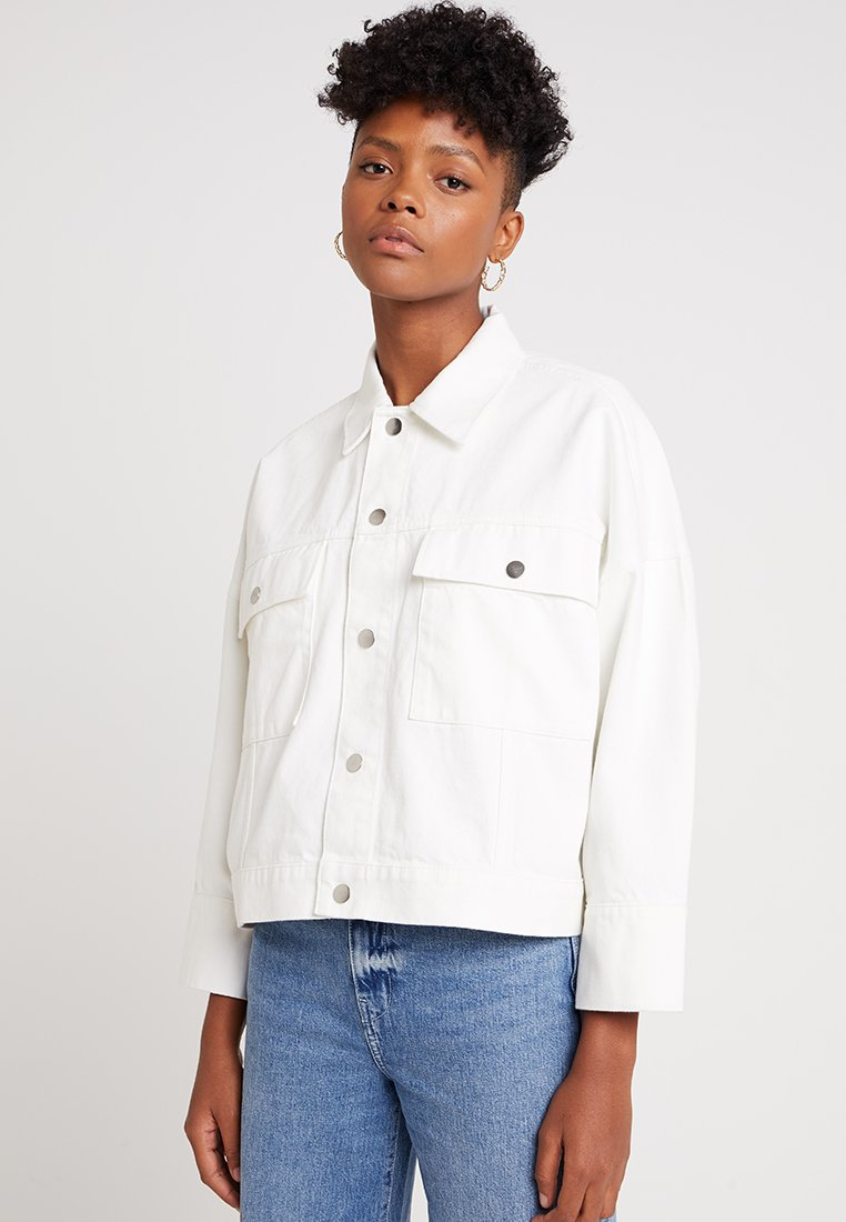 Weekday - TENILLE JACKET - Giacca di jeans - white