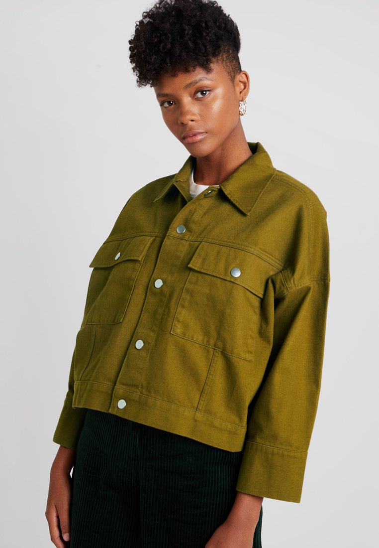 Weekday - TENILLE JACKET - Denim jacket - green