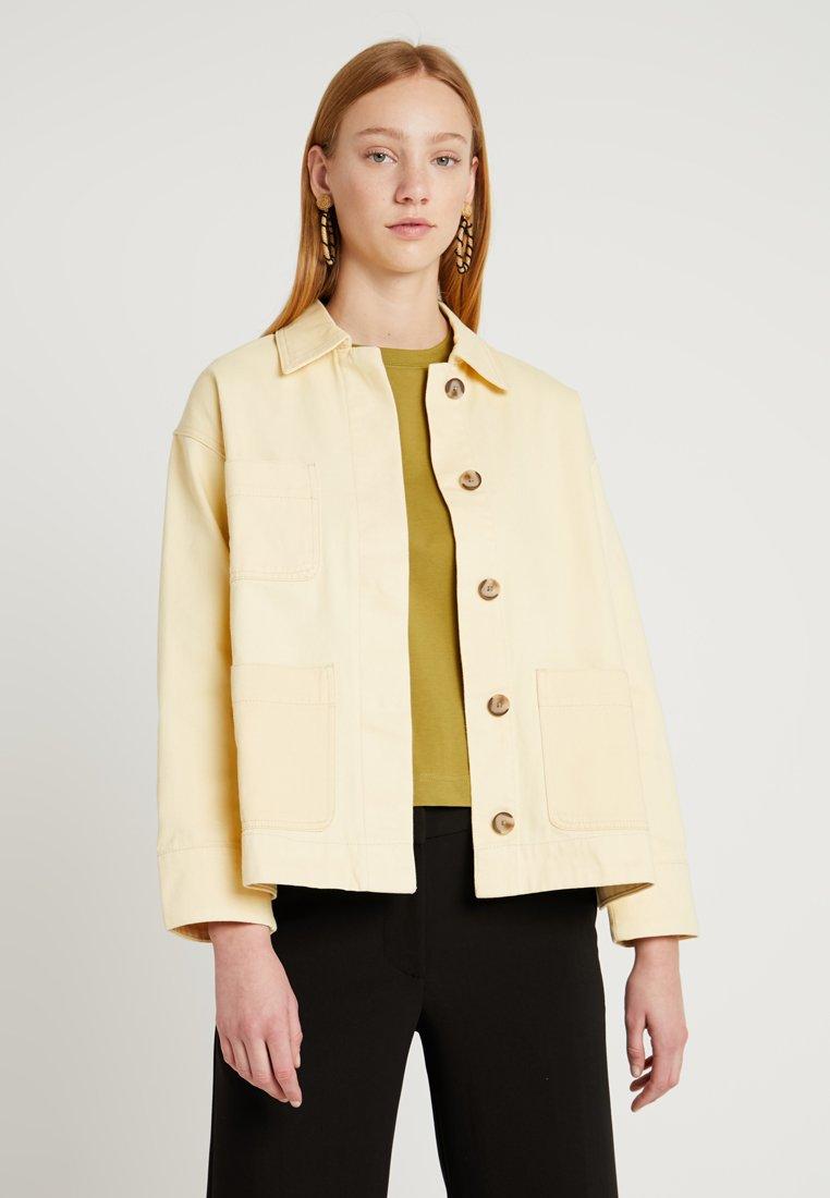 Weekday - INA  - Denim jacket - light yellow