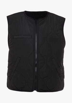 CALISTA PILE VEST - Vest - black
