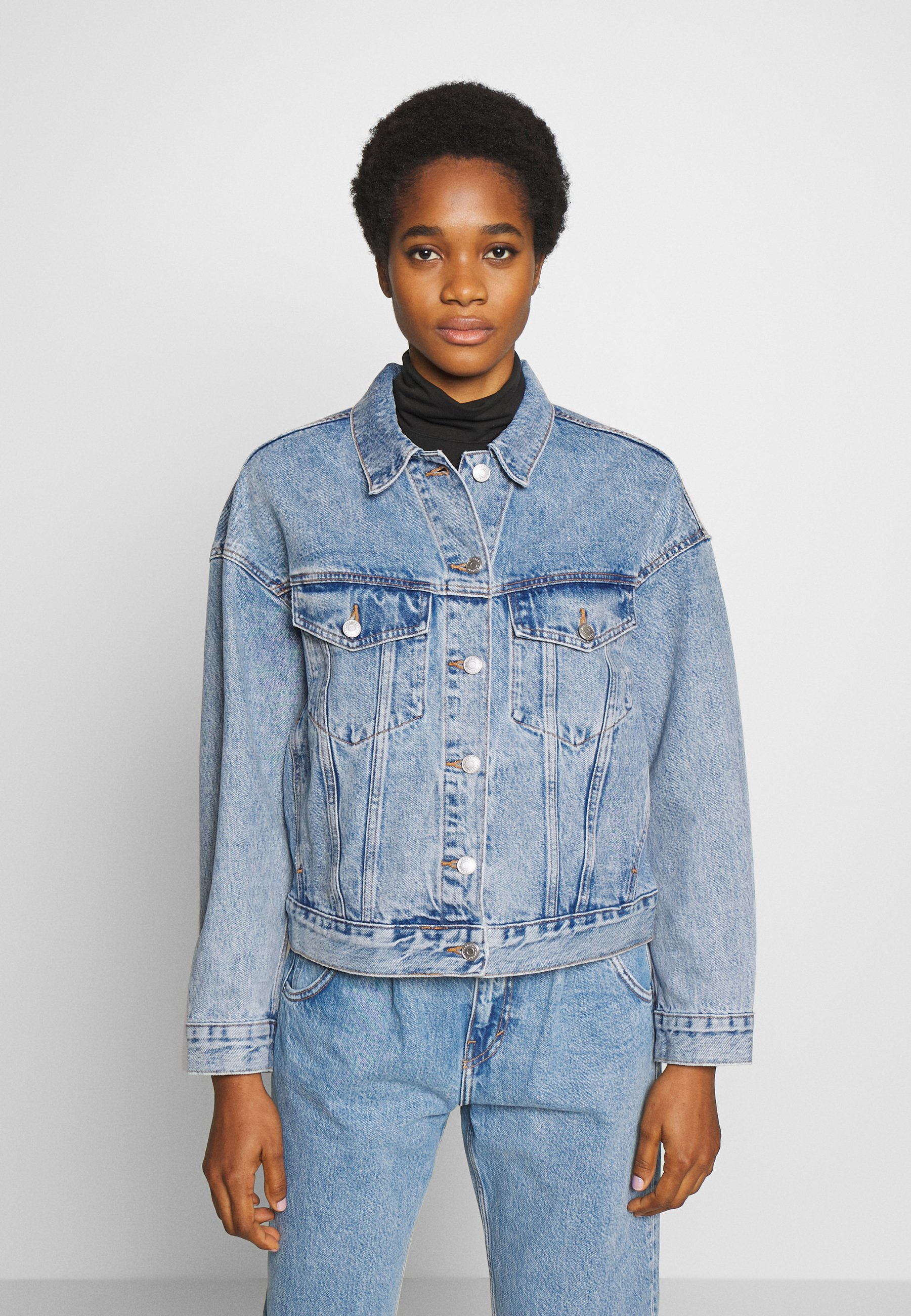 Weekday GRAND JACKET - Kurtka jeansowa - pen blue