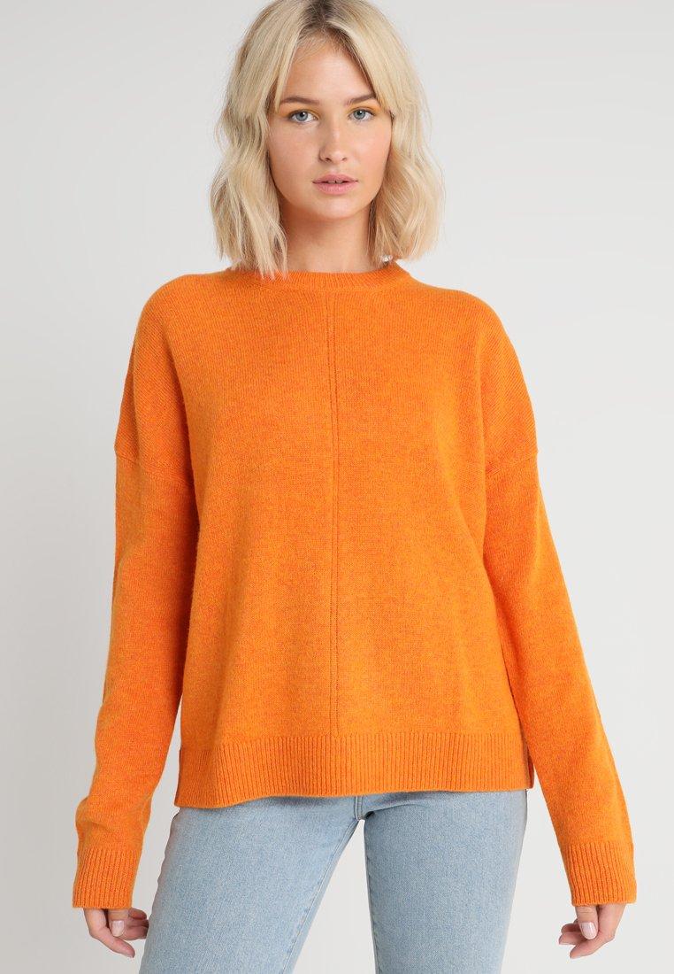 Weekday - FONT SWEATER - Jumper - orange melange