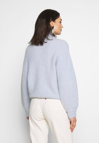 Weekday - SELINA ZIP - Trui - light blue - 2