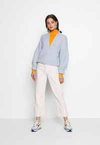 Weekday - SELINA ZIP - Trui - light blue - 1