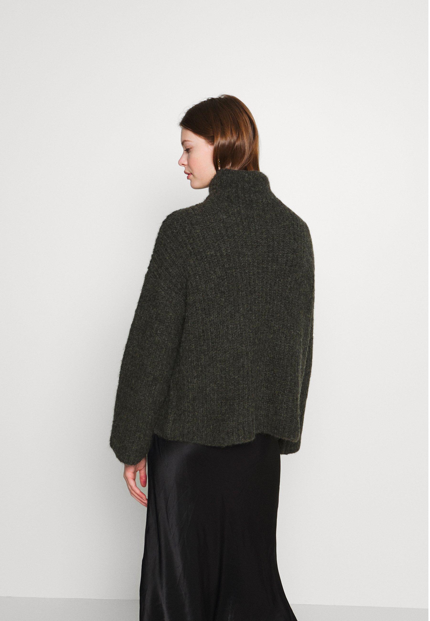 Weekday SOPHIE - Sweter - dark dusty green