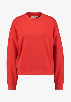 HUGE CROPPED SWEATSHIRT - Felpa - red