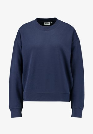 HUGE CROPPED SWEATSHIRT - Felpa - grey blue dark
