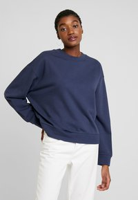 Weekday - HUGE CROPPED  - Sweatshirt - grey blue dark - 0