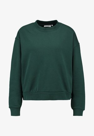 HUGE CROPPED SWEATSHIRT - Mikina - dark green
