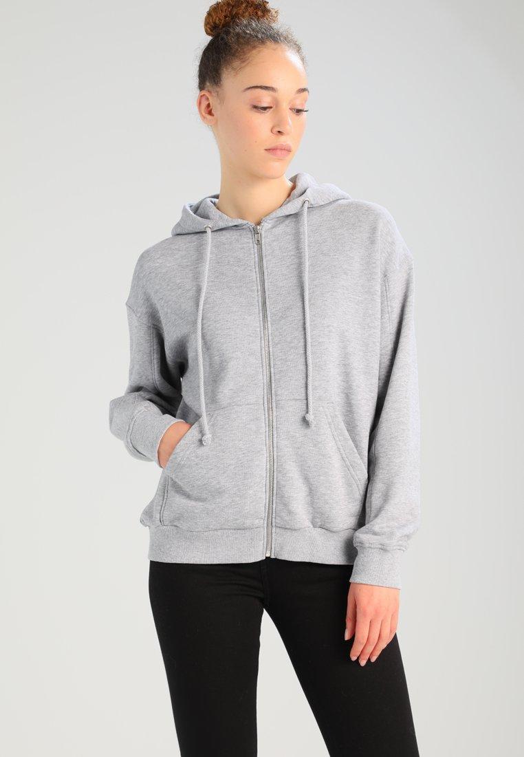 Weekday - AILIN ZIP - Zip-up hoodie - grey