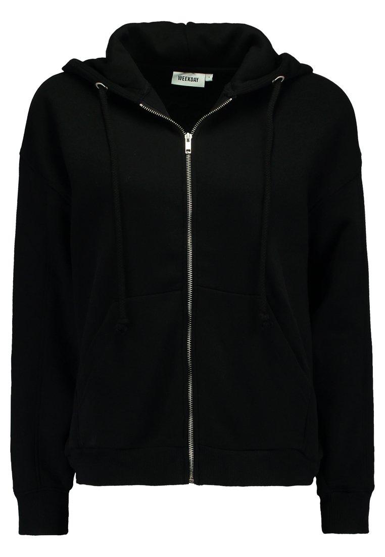 Weekday - AILIN ZIP - veste en sweat zippée - black
