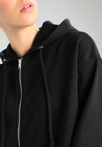 Weekday - AILIN ZIP - veste en sweat zippée - black - 5