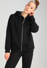 Weekday - AILIN ZIP - veste en sweat zippée - black - 2