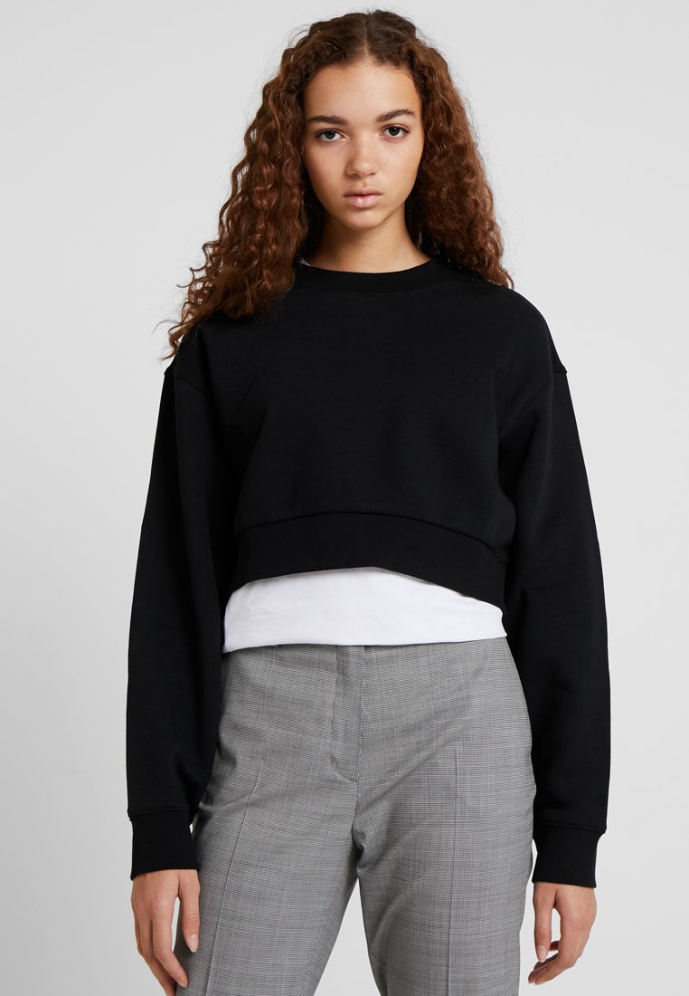 Weekday - RINA CROPPED - Sweatshirt - black