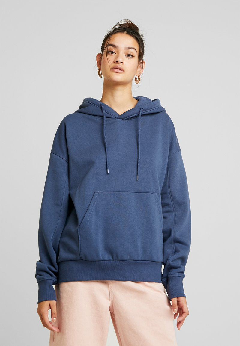 Weekday - ALISA HOODIE - Hoodie - blue medium dusty