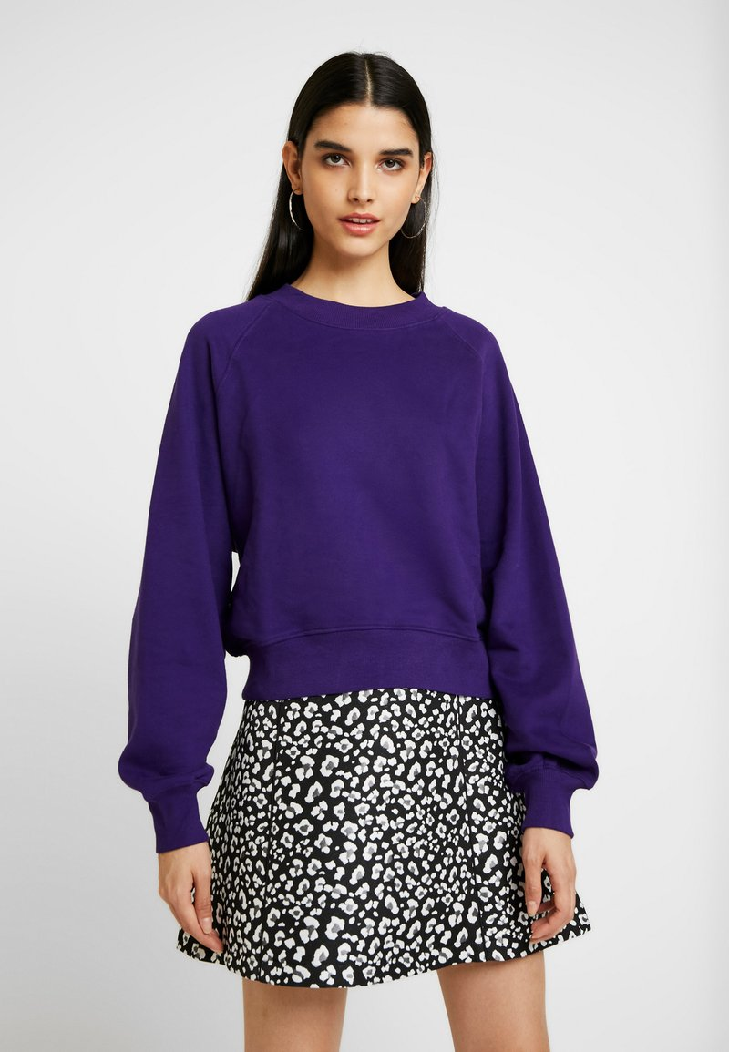 Weekday - JOHANNA  - Sweatshirt - dark purple