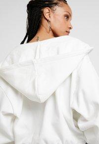 Weekday - MIMI ZIP HODDIE - Zip-up hoodie - white - 6