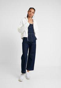 Weekday - MIMI ZIP HODDIE - Zip-up hoodie - white - 1