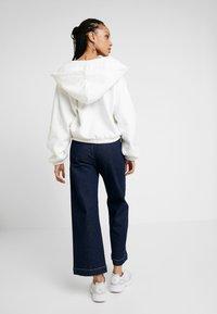 Weekday - MIMI ZIP HODDIE - Zip-up hoodie - white - 2