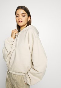 Weekday - MIMI ZIP HODDIE - Zip-up hoodie - light beige - 3