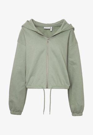 MIMI ZIP HODDIE - Zip-up hoodie - sage green