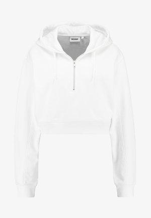 SHERI HALF ZIP HOODIE - Kapuzenpullover - white