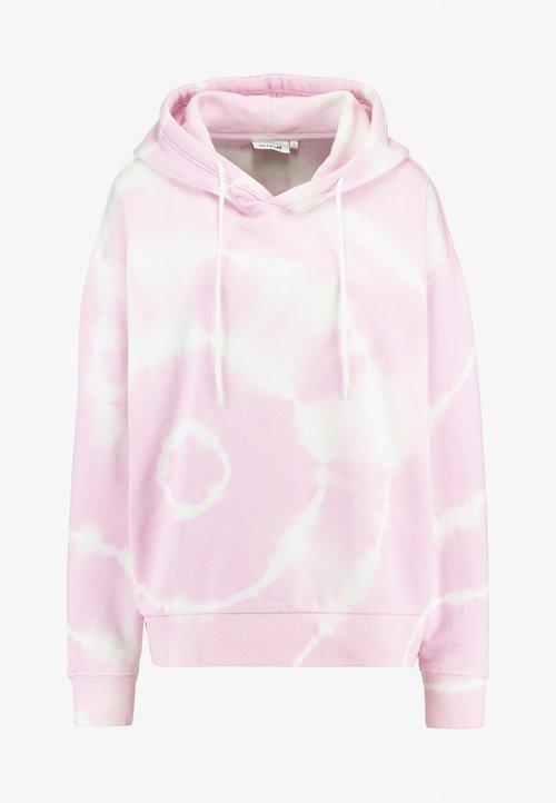 tani Weekday ALISA PRINTED HOODIE - Bluza z kapturem - tie dye neon pink Odzież Damska FDKY-KK2