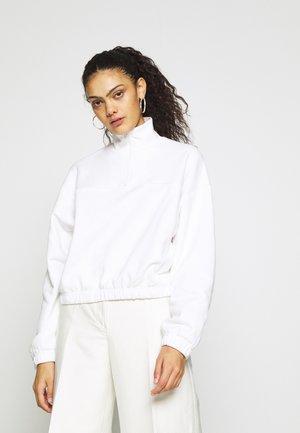 LOU ZIP FRONT - Sweatshirt - white