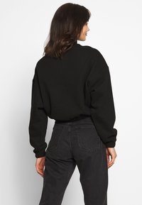 Weekday - LOU ZIP FRONT - Sweatshirt - black - 2