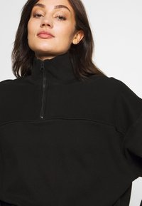 Weekday - LOU ZIP FRONT - Sweatshirt - black - 4