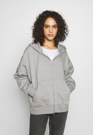 LEYLA ZIP - Zip-up hoodie - grey medium dusty