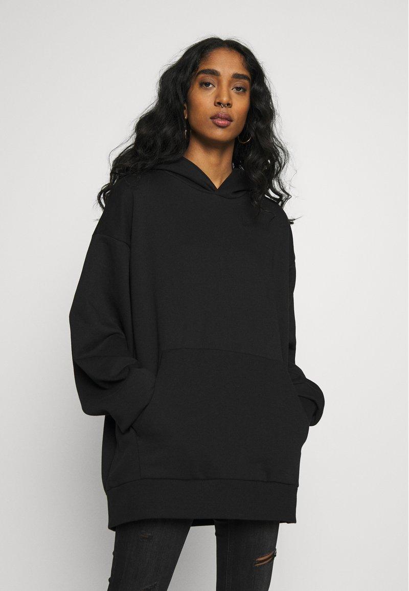 Weekday - LINDA HOODIE - Bluza z kapturem - black