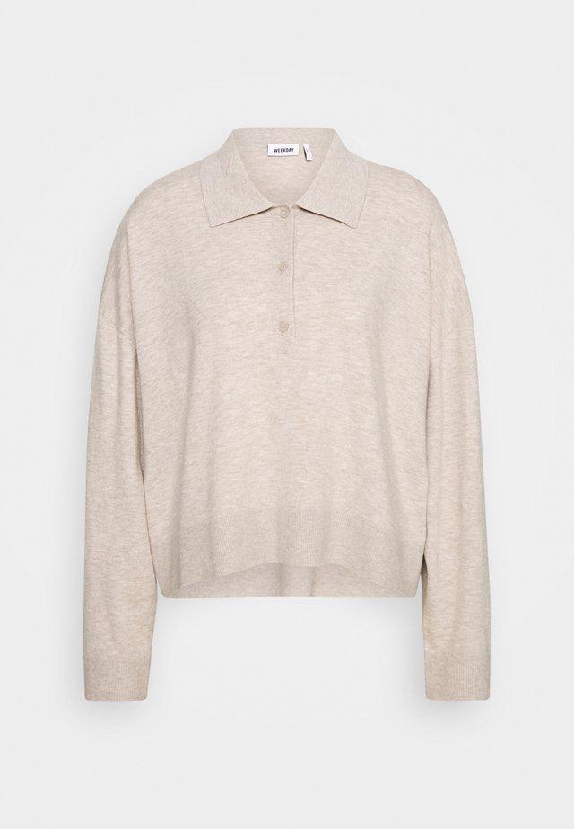 MONIQUE SWEATER - Sweatshirt - light mole melange