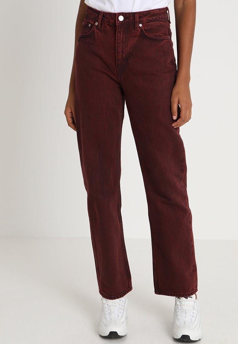 Weekday - VOYAGE - Straight leg jeans - rosewood