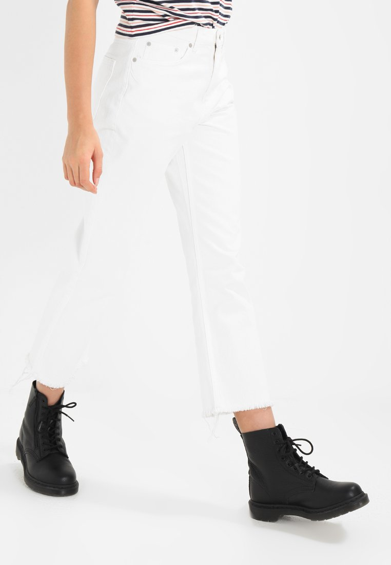 Weekday - VOYAGE - Jeans Straight Leg - loved white
