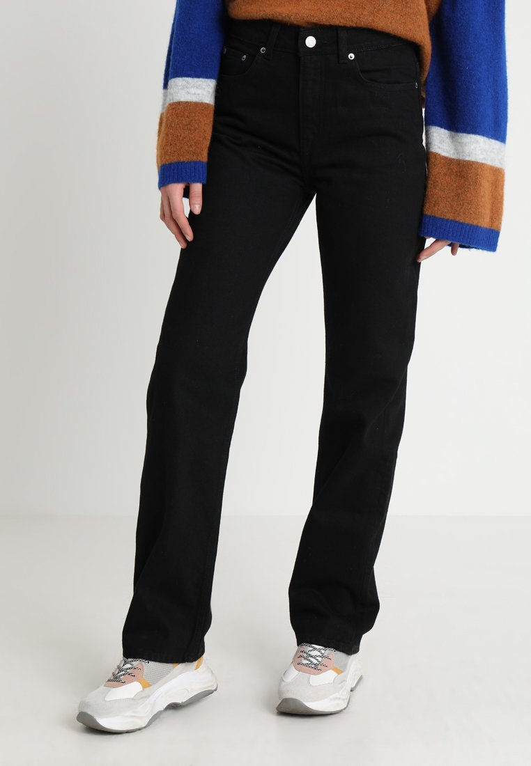 Weekday - VOYAGE - Straight leg jeans - black