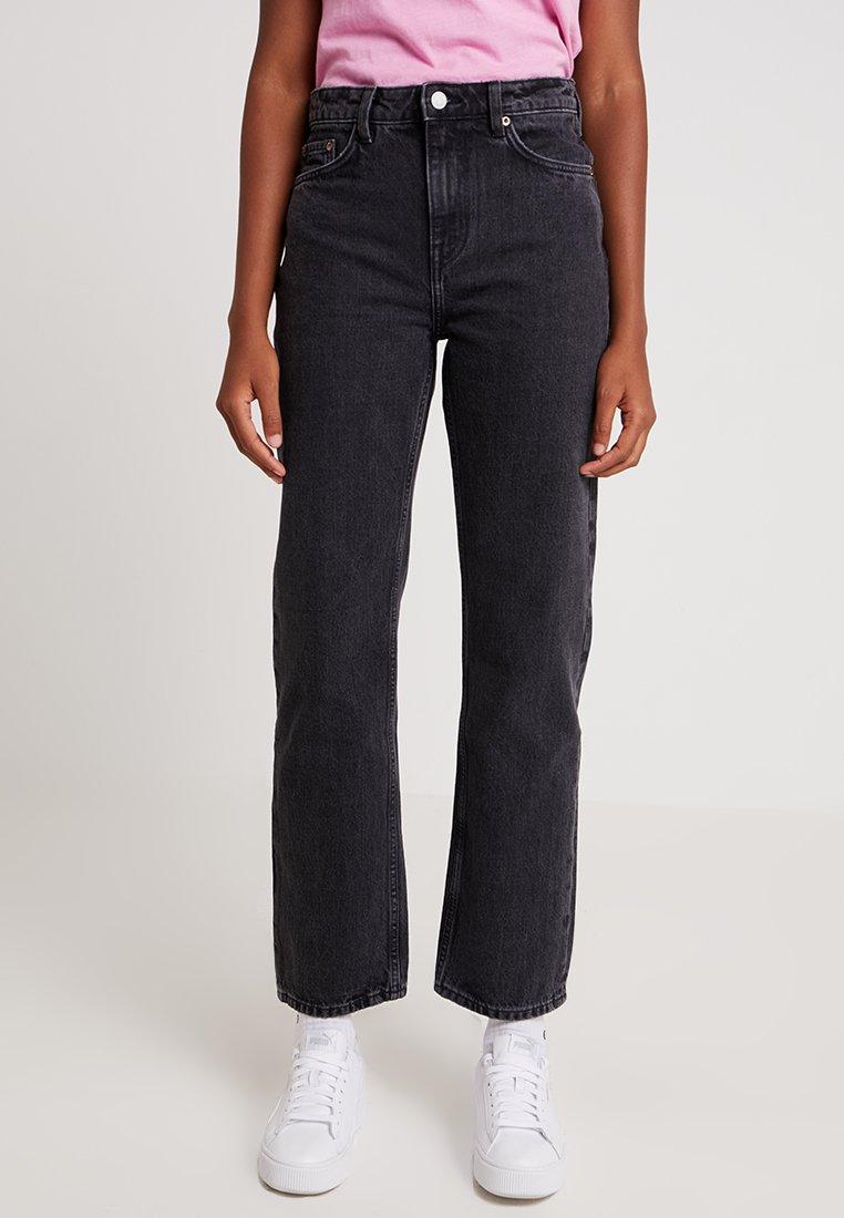 Weekday - VOYAGE - Straight leg jeans - trotter black