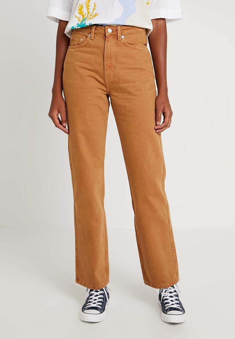 Weekday - ROW - Straight leg jeans - camel