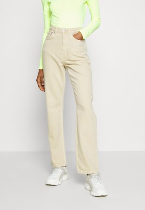 ROWE - Straight leg jeans - row ecru