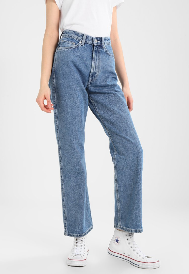 Weekday - ROW - Straight leg jeans - sky blue