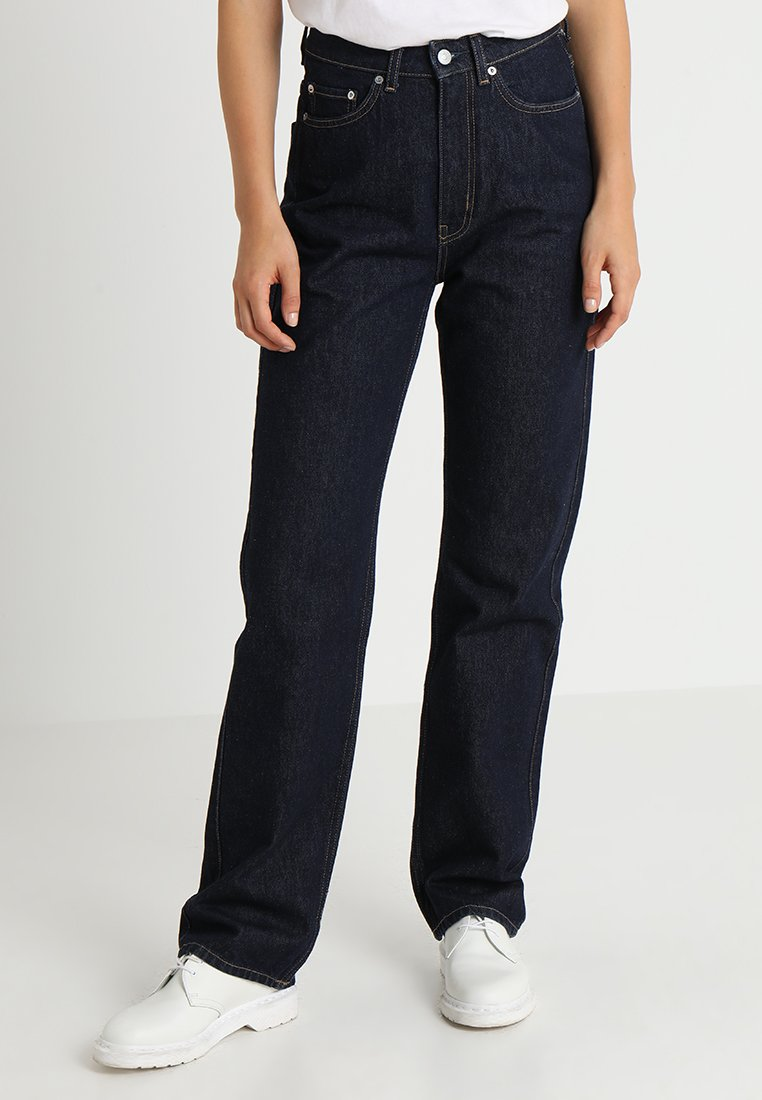 Weekday - ROW - Jeans Straight Leg - dark blue denim