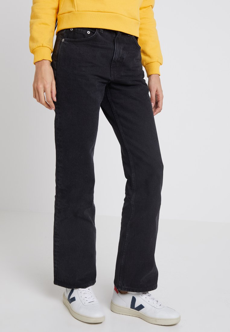 Weekday - MILE - Jeansy Bootcut - tuned black