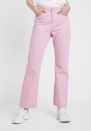 MILE CROPPED - Flared Jeans - pink