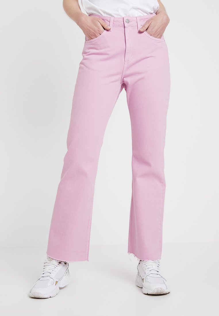 Weekday - MILE CROPPED - Flared Jeans - pink