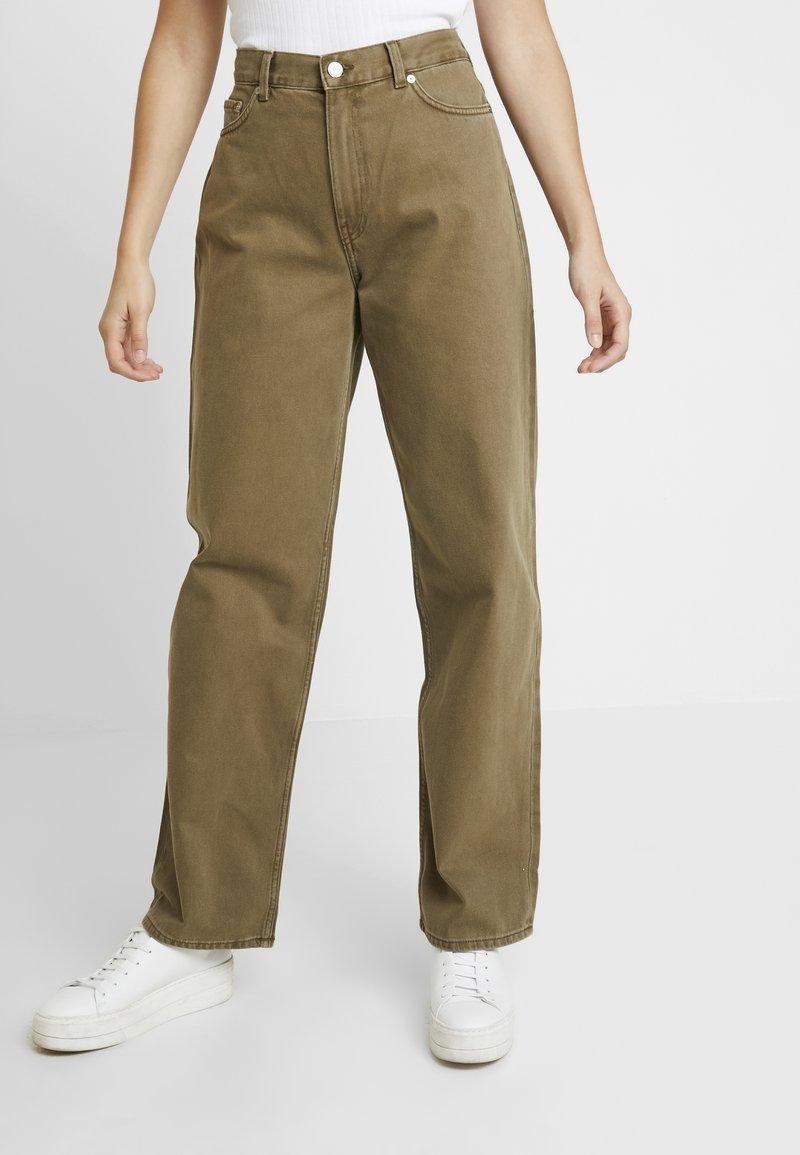 Weekday - RAIL - Jeans Straight Leg - khaki