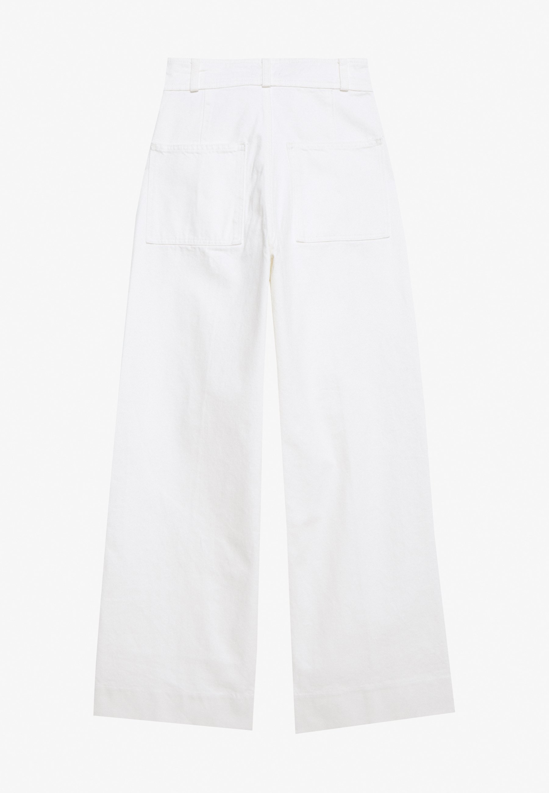 Weekday Cosmo Trousers - Flared-farkut White